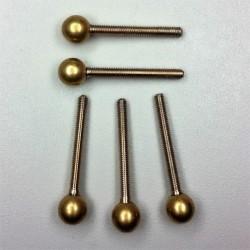 Kontaktschraube aus Silber M3 mit Kugel